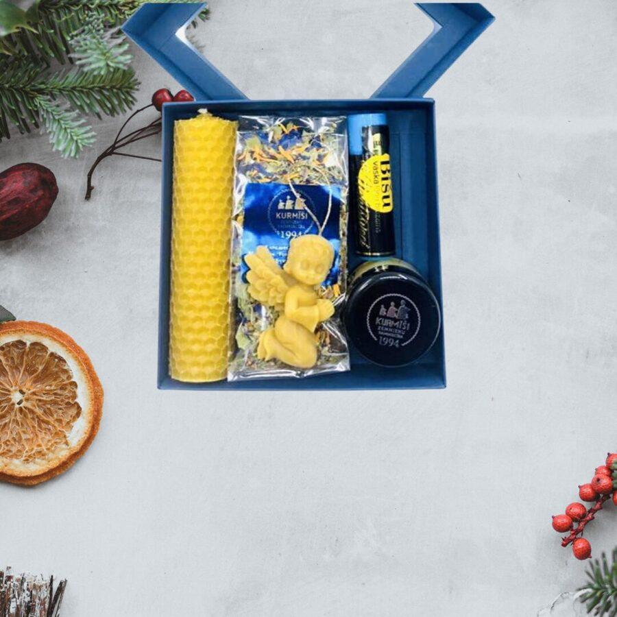 Dāvanu komplekts (zilā kastīte)
