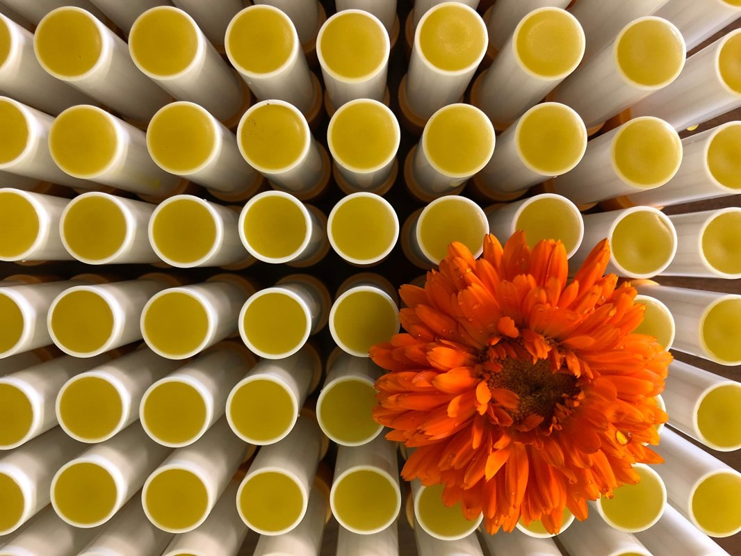 Beeswax lipstick with calendula