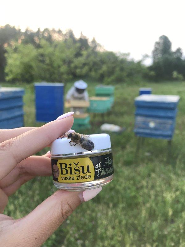 Мазь из пчелиного воска (lat. Cera) с экстрактом зверобоя