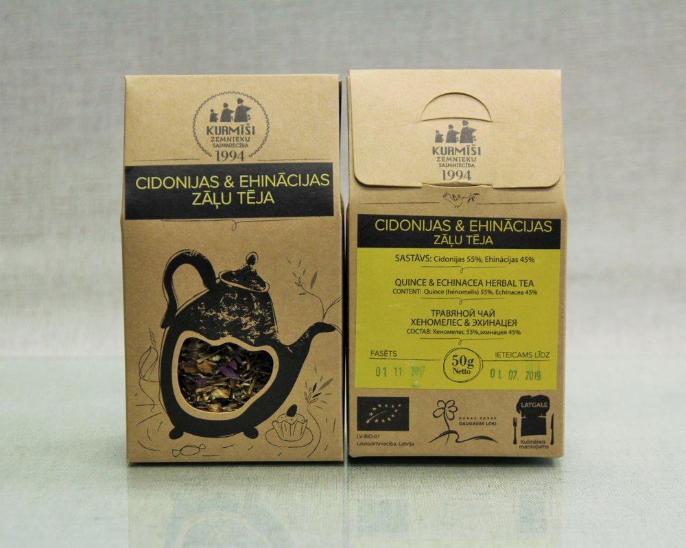 Zāļu tēja Cidonijas Un Ehinācijas, bioloģiska