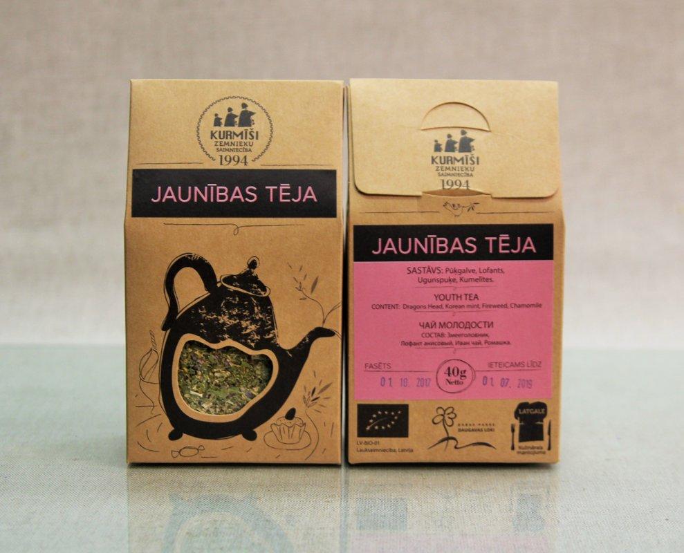 Zāļu tēja Jaunības, bioloģiska.