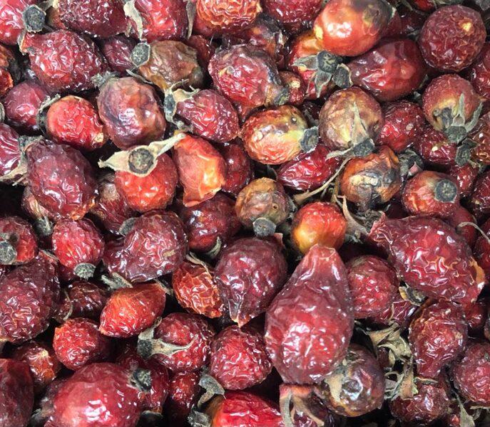 Mežrozītes augļi (kaltēti)