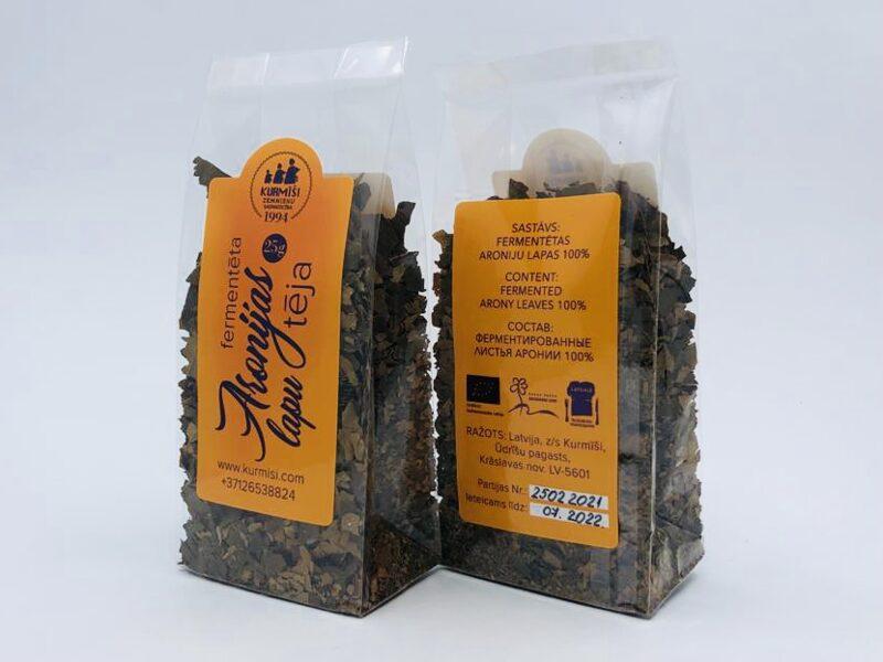 Fermentētu aronijas lapu tēja