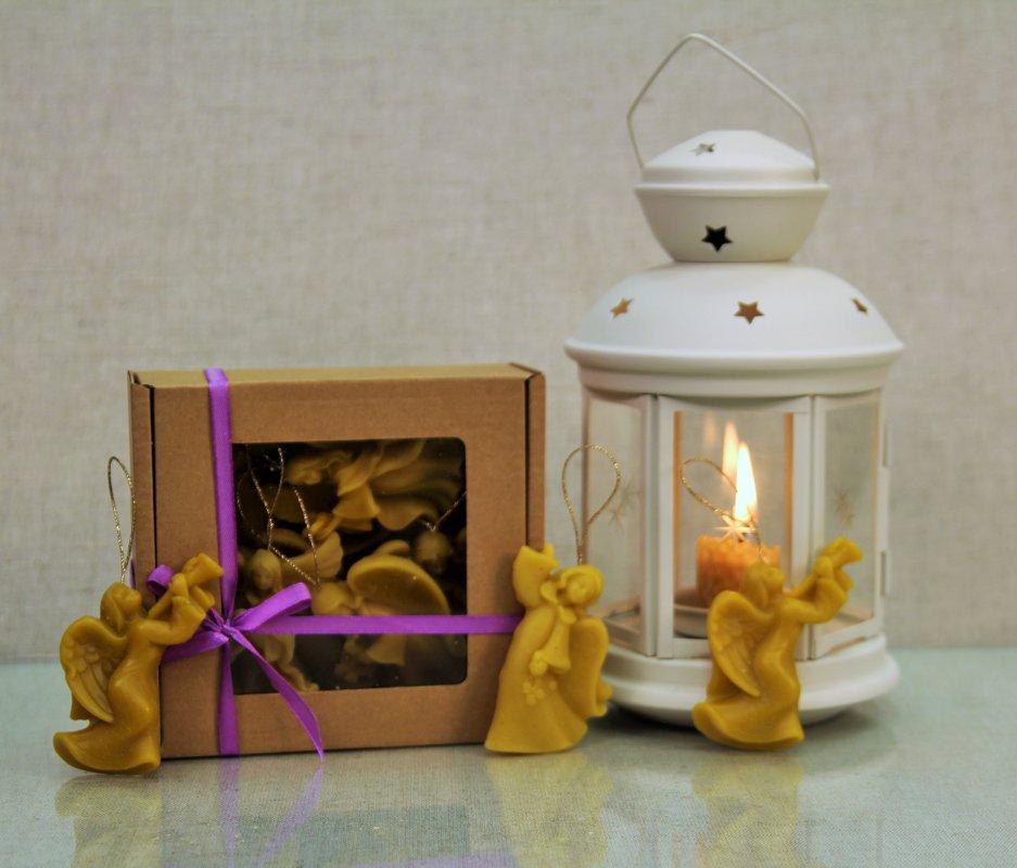 Комплект украшений из пчелиного воска